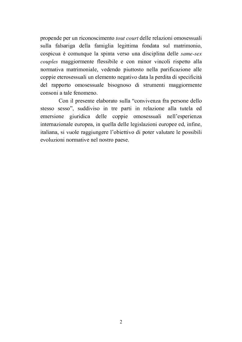 Anteprima della tesi: La convivenza fra persone dello stesso sesso, Pagina 2