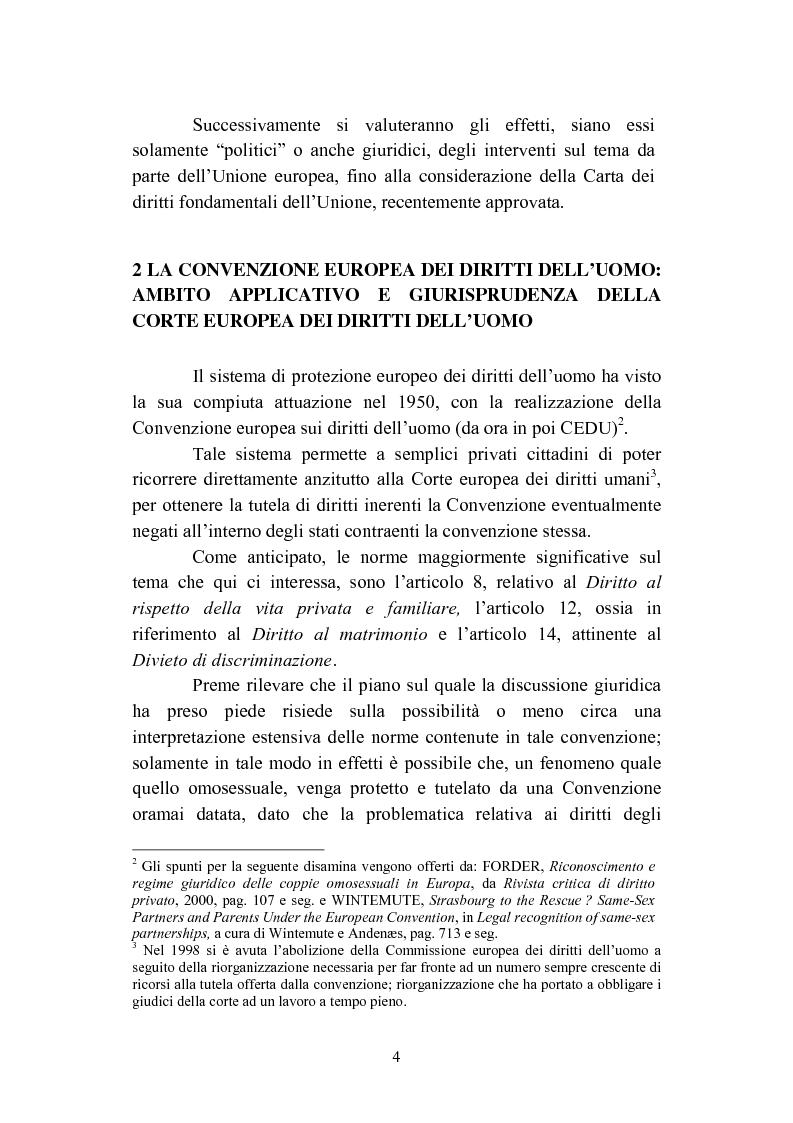 Anteprima della tesi: La convivenza fra persone dello stesso sesso, Pagina 4