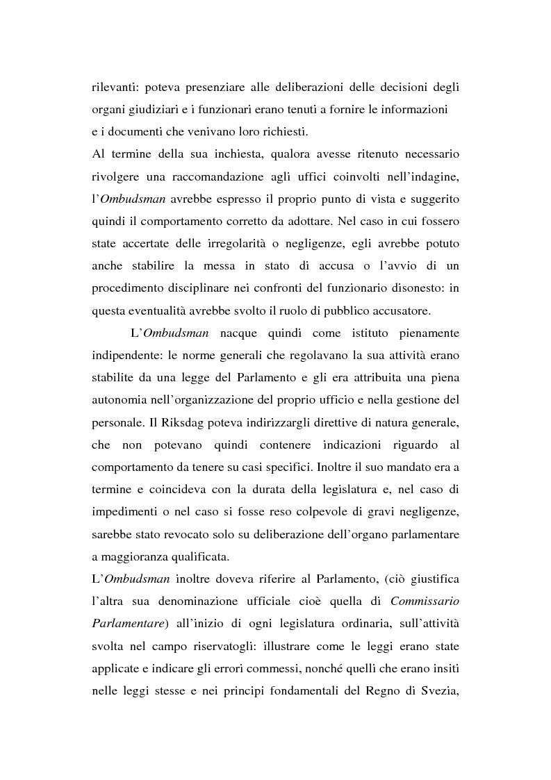Anteprima della tesi: Il Mediatore europeo e la figura dell'Ombudsman nei Paesi Scandinavi, Pagina 13