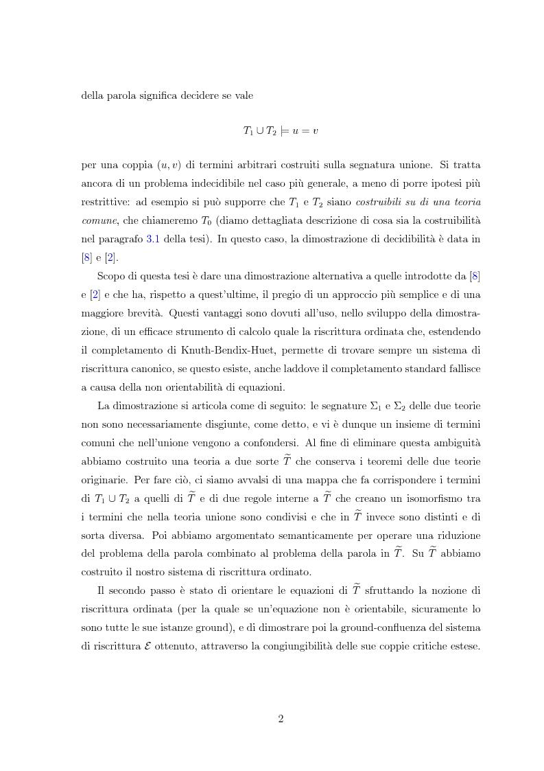 Anteprima della tesi: Combinazione di procedure di decisione tramite riscrittura, Pagina 3