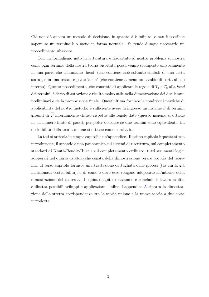 Anteprima della tesi: Combinazione di procedure di decisione tramite riscrittura, Pagina 4