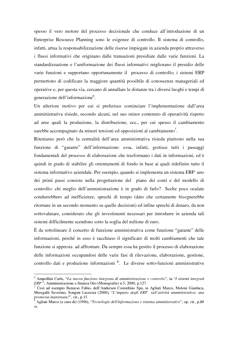 Anteprima della tesi: Il controllo di gestione nell'era digitale: la rilevanza dei sistemi informativi integrati, Pagina 3