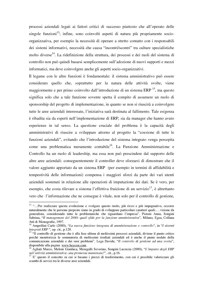 Anteprima della tesi: Il controllo di gestione nell'era digitale: la rilevanza dei sistemi informativi integrati, Pagina 6