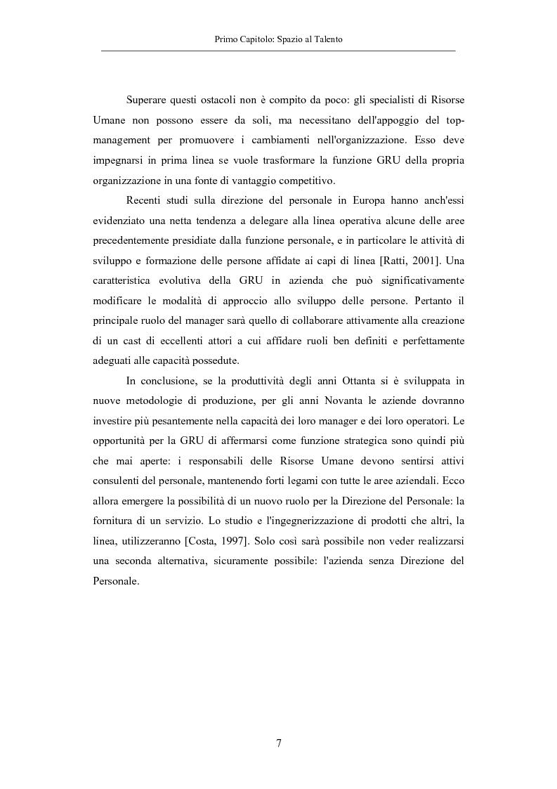 Anteprima della tesi: La gestione dei talenti: approcci aziendali e prospettive individuali, Pagina 10
