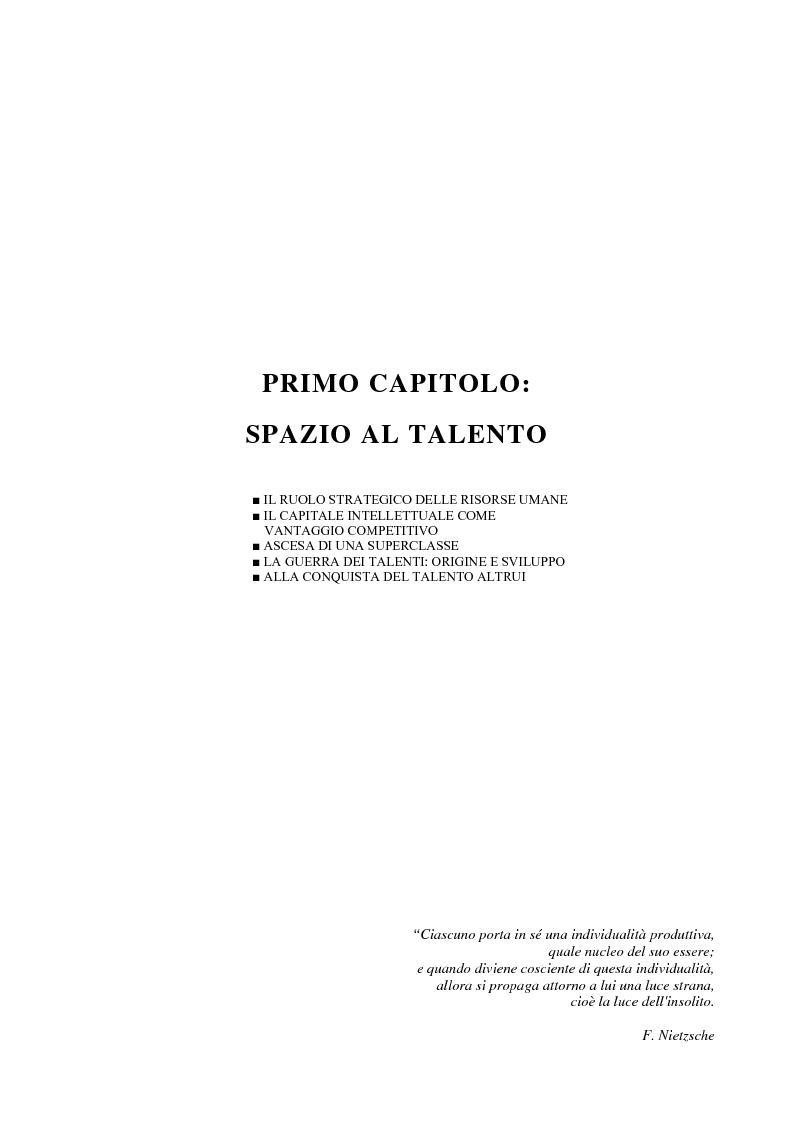 Anteprima della tesi: La gestione dei talenti: approcci aziendali e prospettive individuali, Pagina 4