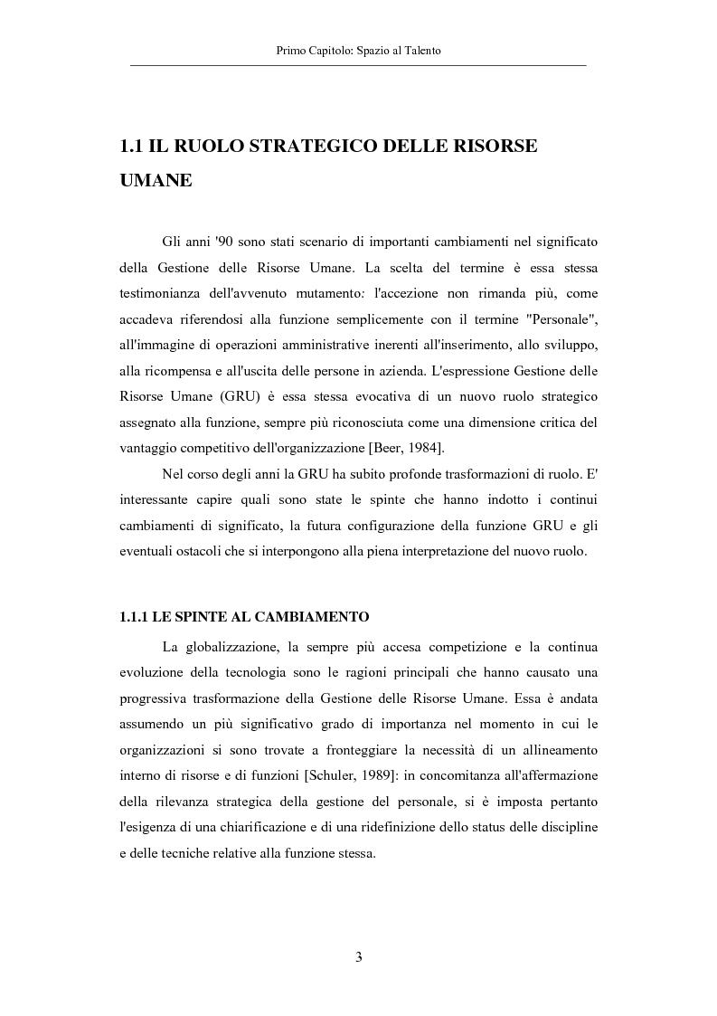 Anteprima della tesi: La gestione dei talenti: approcci aziendali e prospettive individuali, Pagina 6