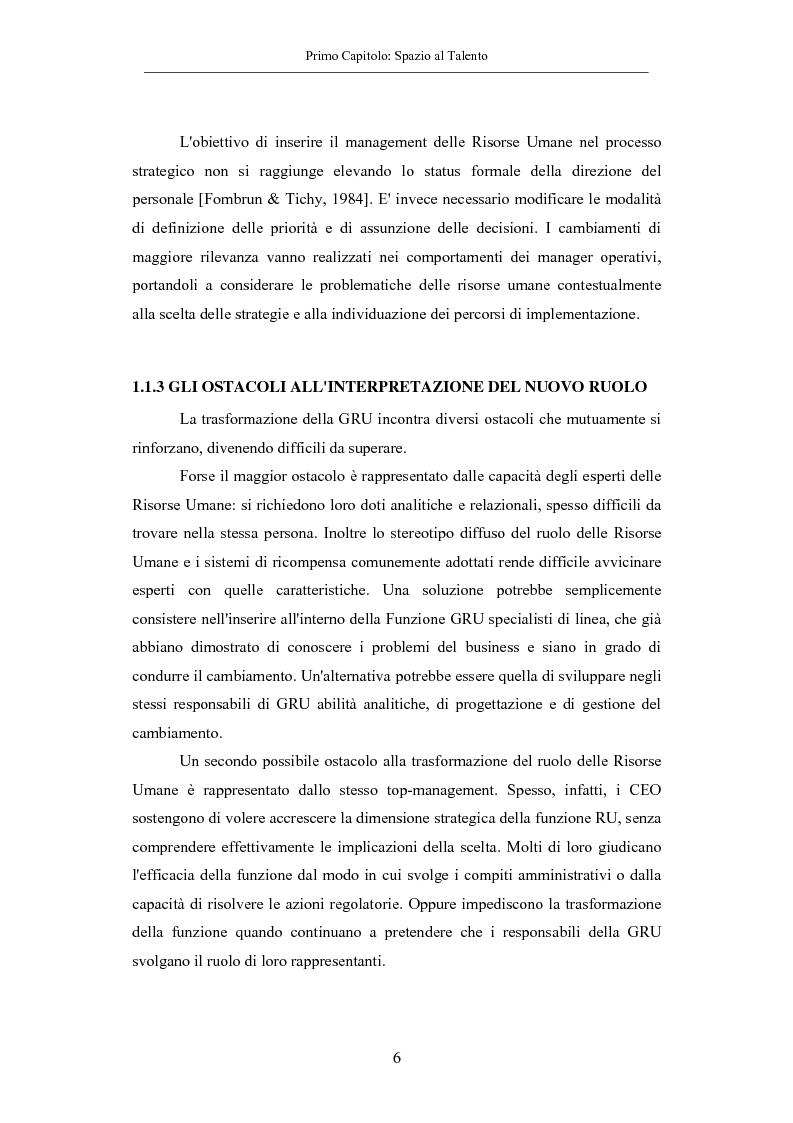 Anteprima della tesi: La gestione dei talenti: approcci aziendali e prospettive individuali, Pagina 9