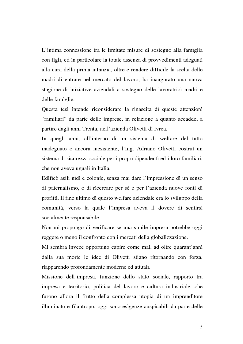 Anteprima della tesi: Politiche per l'infanzia in contesto aziendale: il caso Olivetti, Pagina 2
