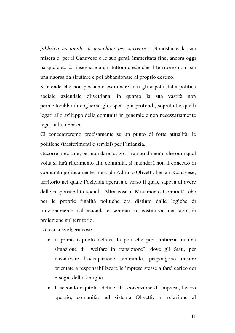 Anteprima della tesi: Politiche per l'infanzia in contesto aziendale: il caso Olivetti, Pagina 8