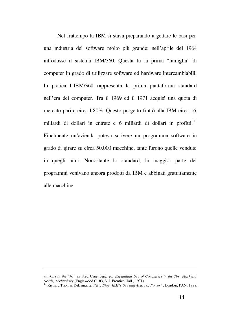 Anteprima della tesi: Strategie competitive nell'industria del software, Pagina 10
