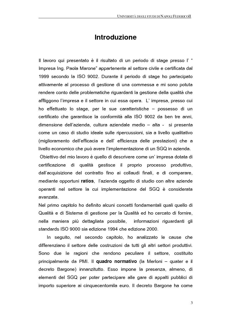 Anteprima della tesi: La qualità nel processo produttivo in una PMI del settore civile, Pagina 1