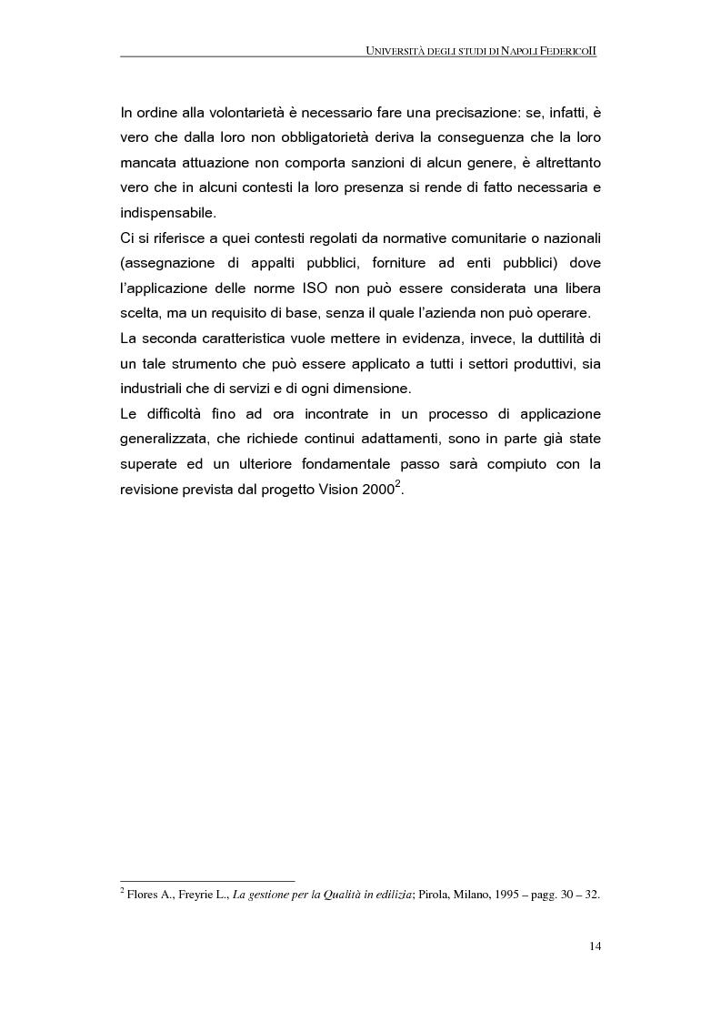 Anteprima della tesi: La qualità nel processo produttivo in una PMI del settore civile, Pagina 12