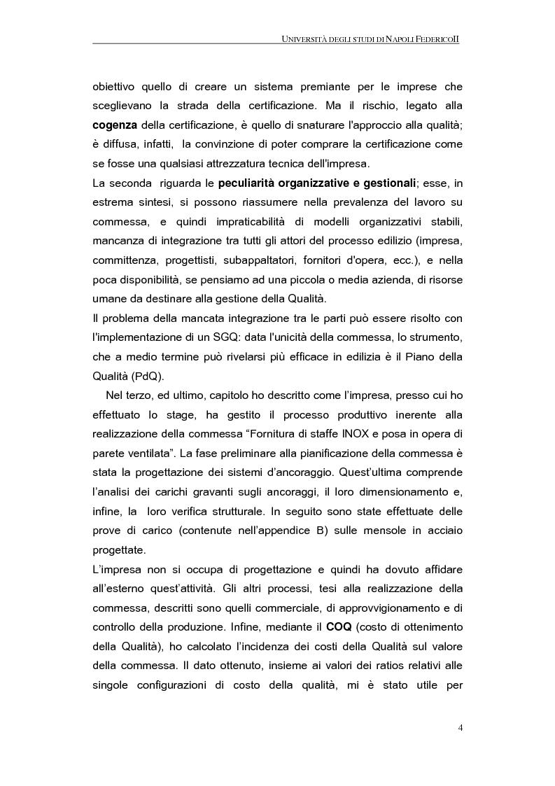 Anteprima della tesi: La qualità nel processo produttivo in una PMI del settore civile, Pagina 2