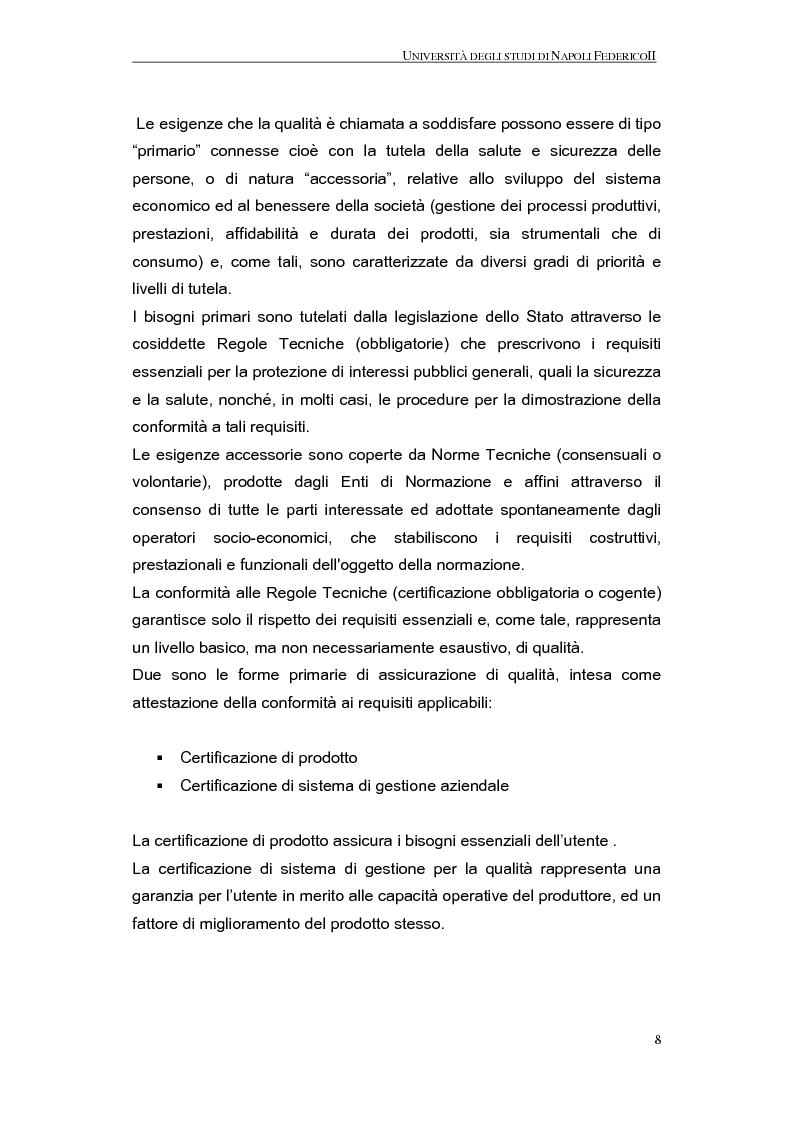 Anteprima della tesi: La qualità nel processo produttivo in una PMI del settore civile, Pagina 6