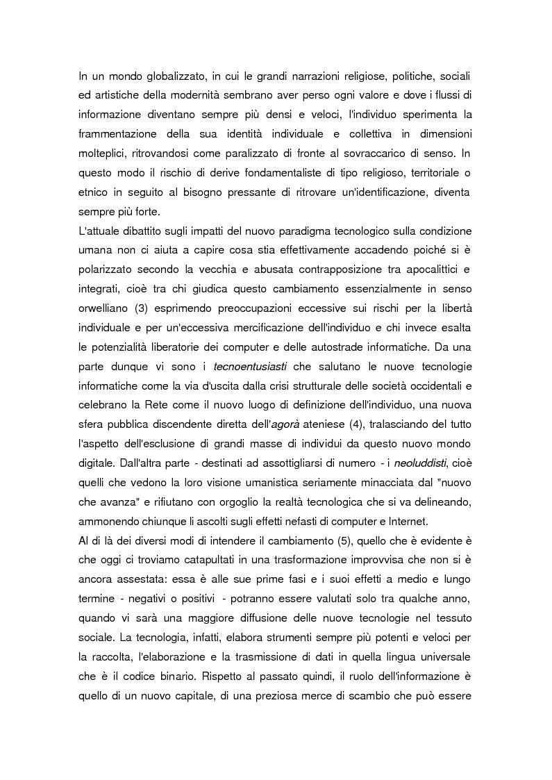 Anteprima della tesi: La società dell'informazione, Pagina 2