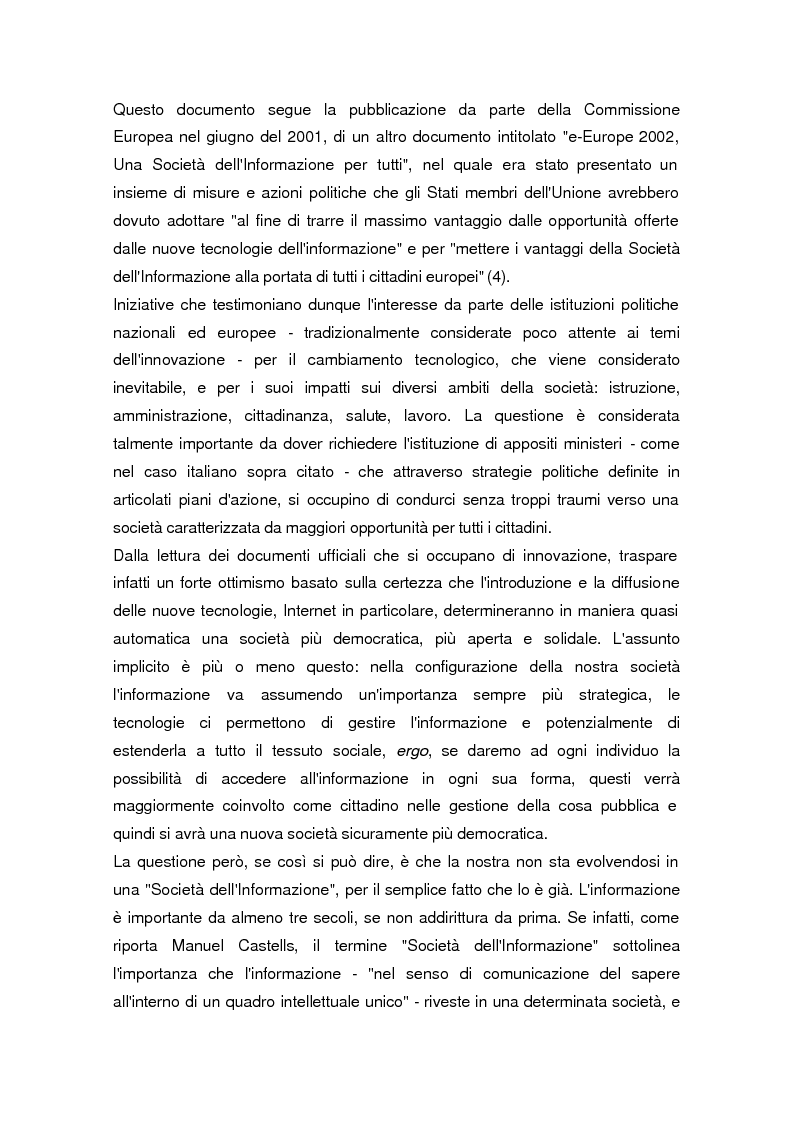 Anteprima della tesi: La società dell'informazione, Pagina 5