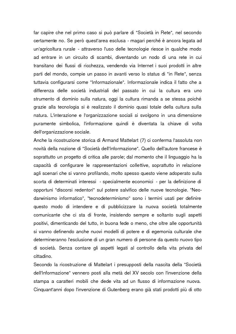 Anteprima della tesi: La società dell'informazione, Pagina 7