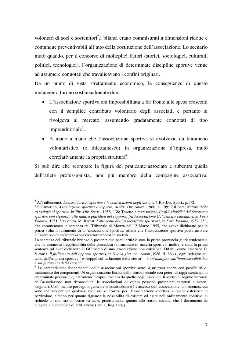 Anteprima della tesi: Il marketing delle società di calcio del 2000: analisi, strategie e scenari futuri, Pagina 7