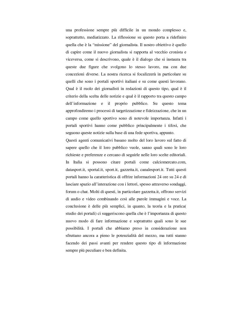 Anteprima della tesi: Internet, il calcio e il suo pubblico, Pagina 5