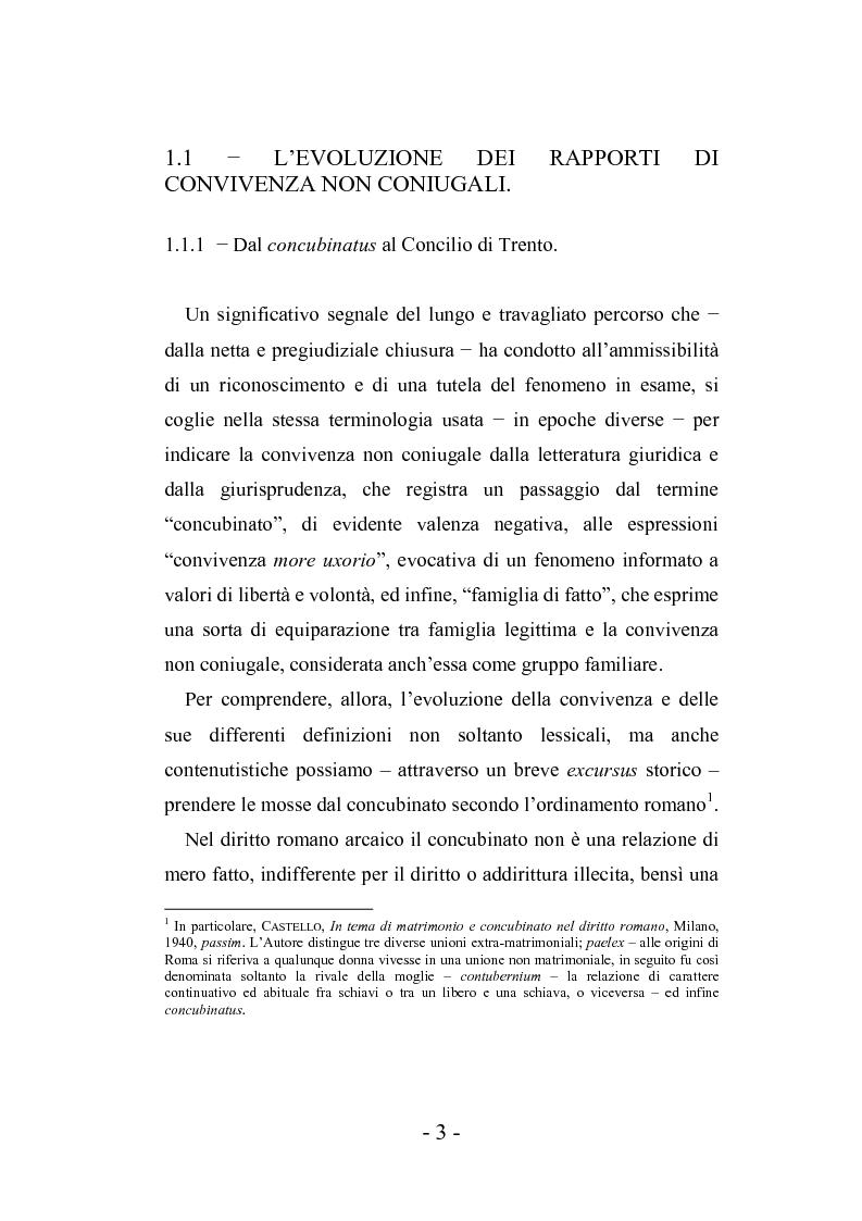 Anteprima della tesi: L'autonomia tra conviventi, Pagina 9