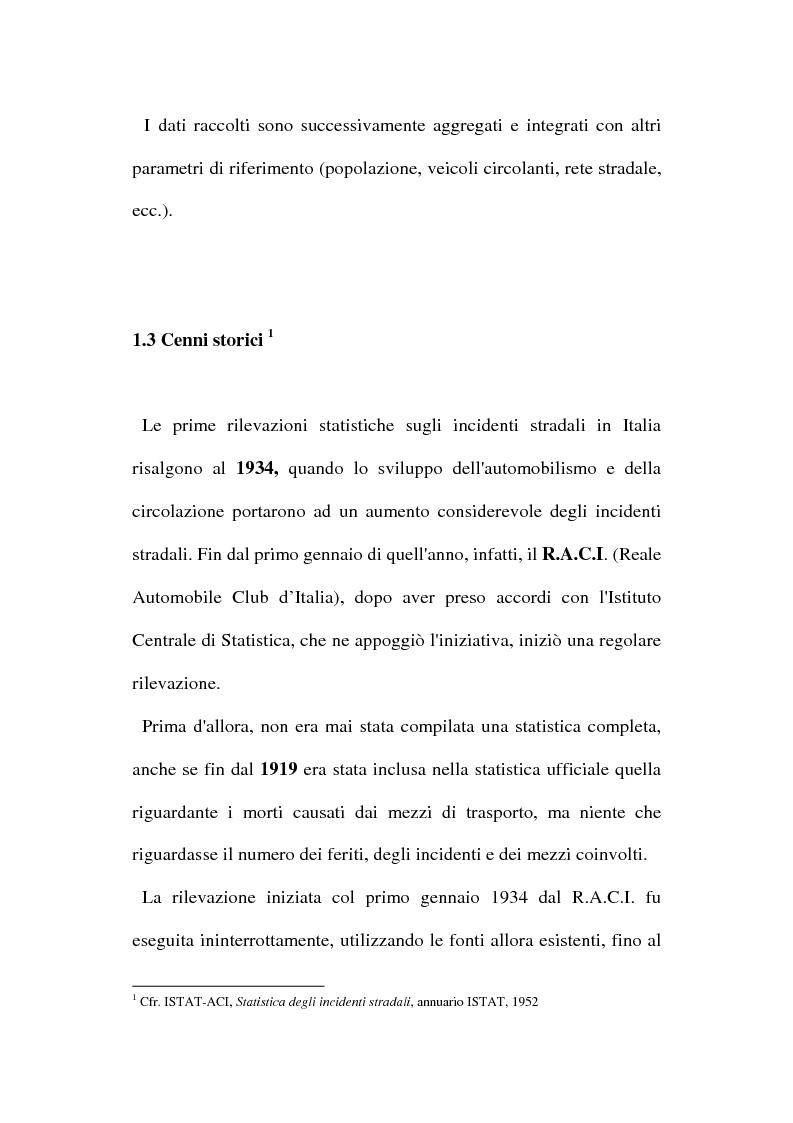 Anteprima della tesi: Gli incidenti stradali nel periodo 1989-1998: aspetti sociali ed economici, Pagina 10