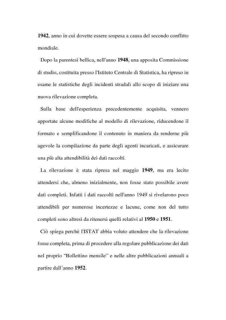 Anteprima della tesi: Gli incidenti stradali nel periodo 1989-1998: aspetti sociali ed economici, Pagina 11