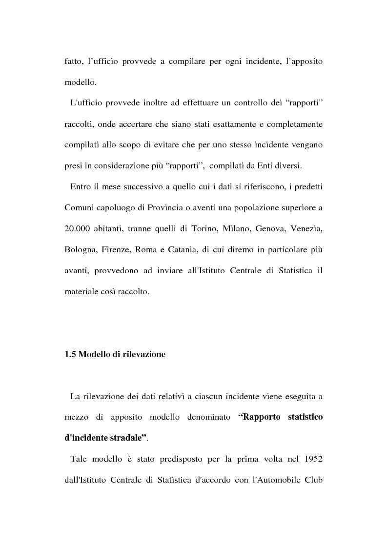 Anteprima della tesi: Gli incidenti stradali nel periodo 1989-1998: aspetti sociali ed economici, Pagina 13