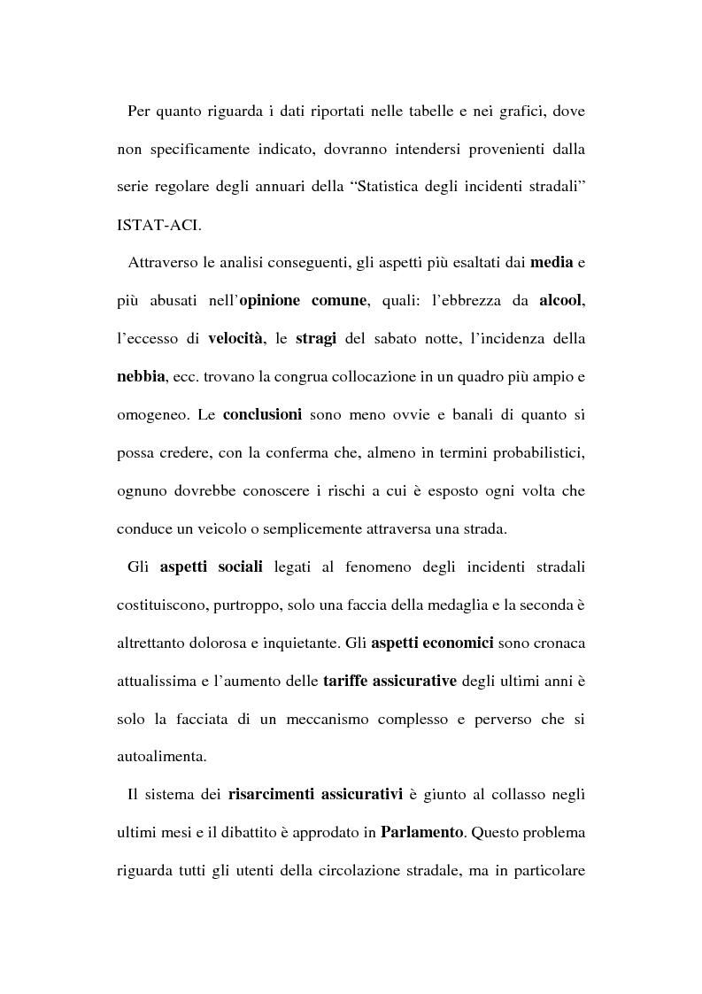 Anteprima della tesi: Gli incidenti stradali nel periodo 1989-1998: aspetti sociali ed economici, Pagina 4