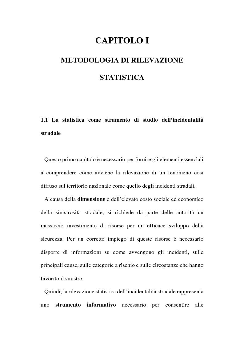Anteprima della tesi: Gli incidenti stradali nel periodo 1989-1998: aspetti sociali ed economici, Pagina 6