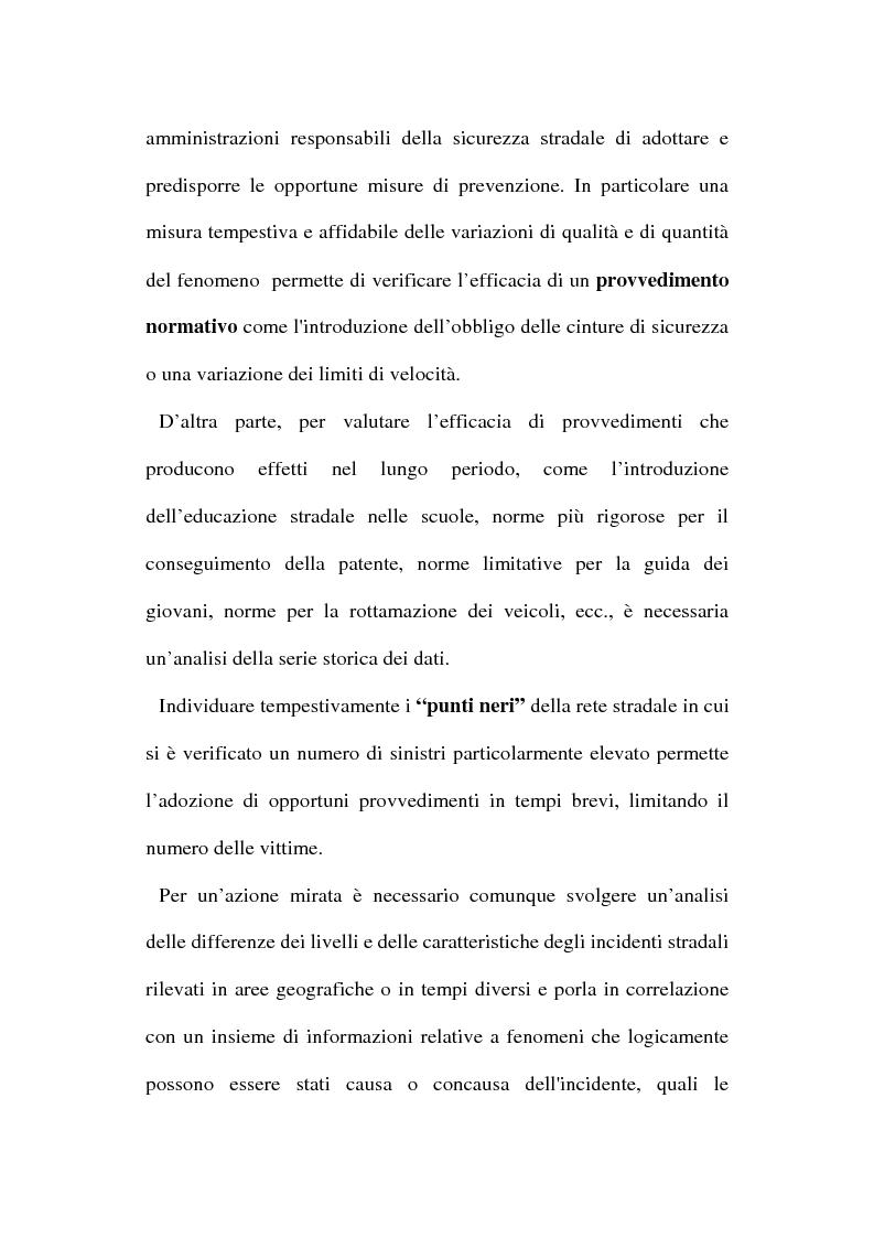 Anteprima della tesi: Gli incidenti stradali nel periodo 1989-1998: aspetti sociali ed economici, Pagina 7
