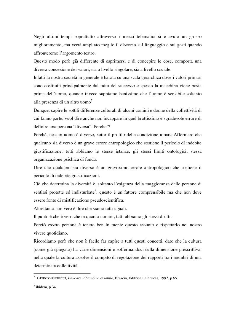 Anteprima della tesi: Integrazione sociale: multimedialità e teatro nel mondo del disabile fisico, Pagina 13