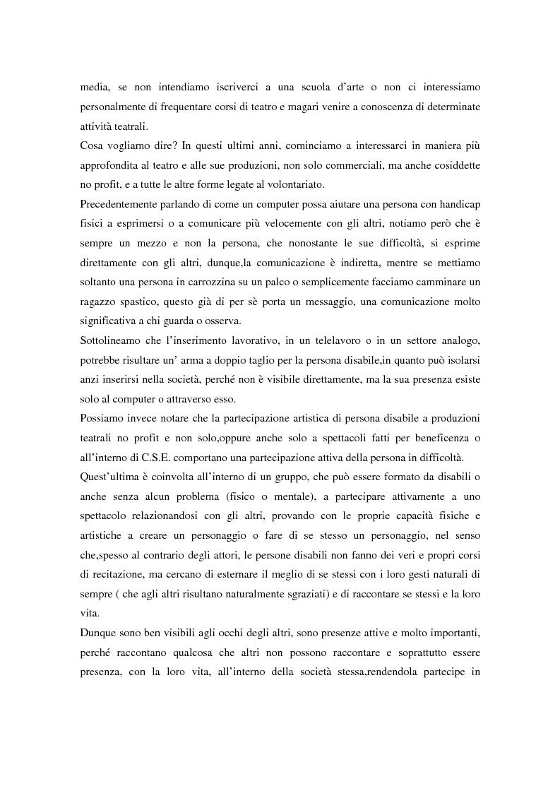 Anteprima della tesi: Integrazione sociale: multimedialità e teatro nel mondo del disabile fisico, Pagina 5