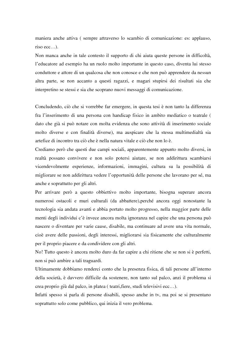 Anteprima della tesi: Integrazione sociale: multimedialità e teatro nel mondo del disabile fisico, Pagina 6