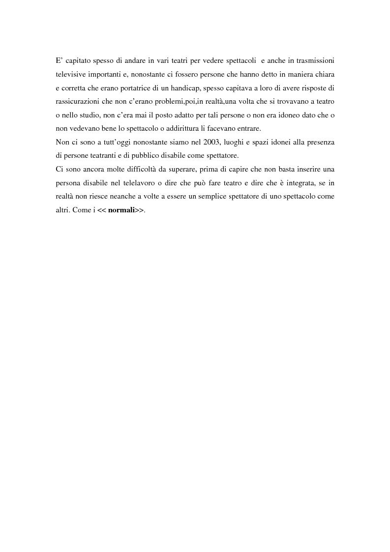 Anteprima della tesi: Integrazione sociale: multimedialità e teatro nel mondo del disabile fisico, Pagina 7