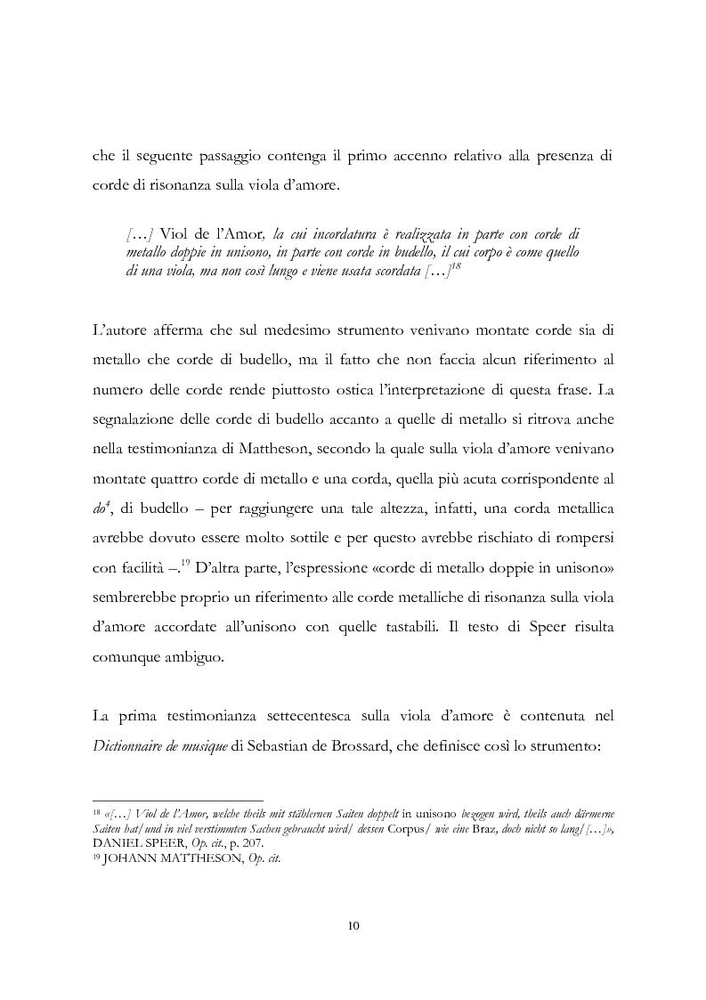 Anteprima della tesi: I musicisti italiani e la viola d'amore nella prima metà del Settecento, Pagina 10