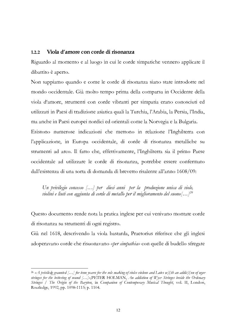 Anteprima della tesi: I musicisti italiani e la viola d'amore nella prima metà del Settecento, Pagina 12
