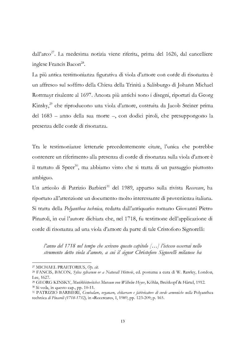 Anteprima della tesi: I musicisti italiani e la viola d'amore nella prima metà del Settecento, Pagina 13