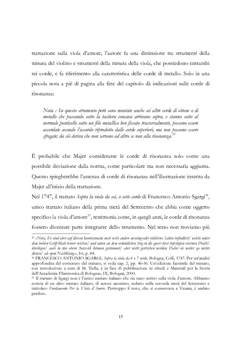 Anteprima della tesi: I musicisti italiani e la viola d'amore nella prima metà del Settecento, Pagina 15
