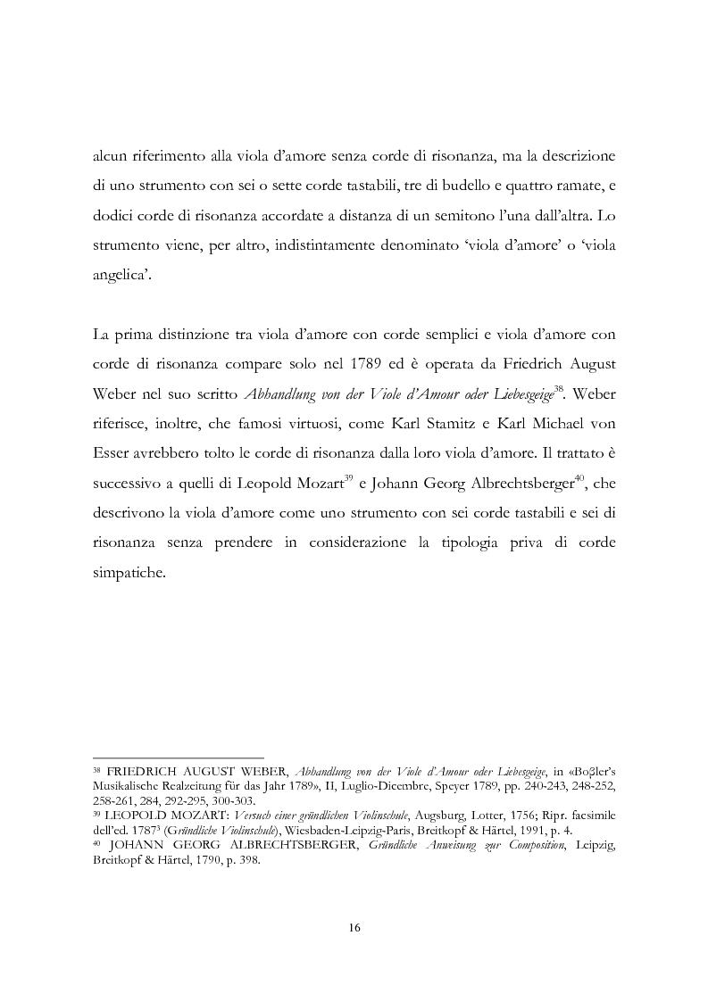 Anteprima della tesi: I musicisti italiani e la viola d'amore nella prima metà del Settecento, Pagina 16