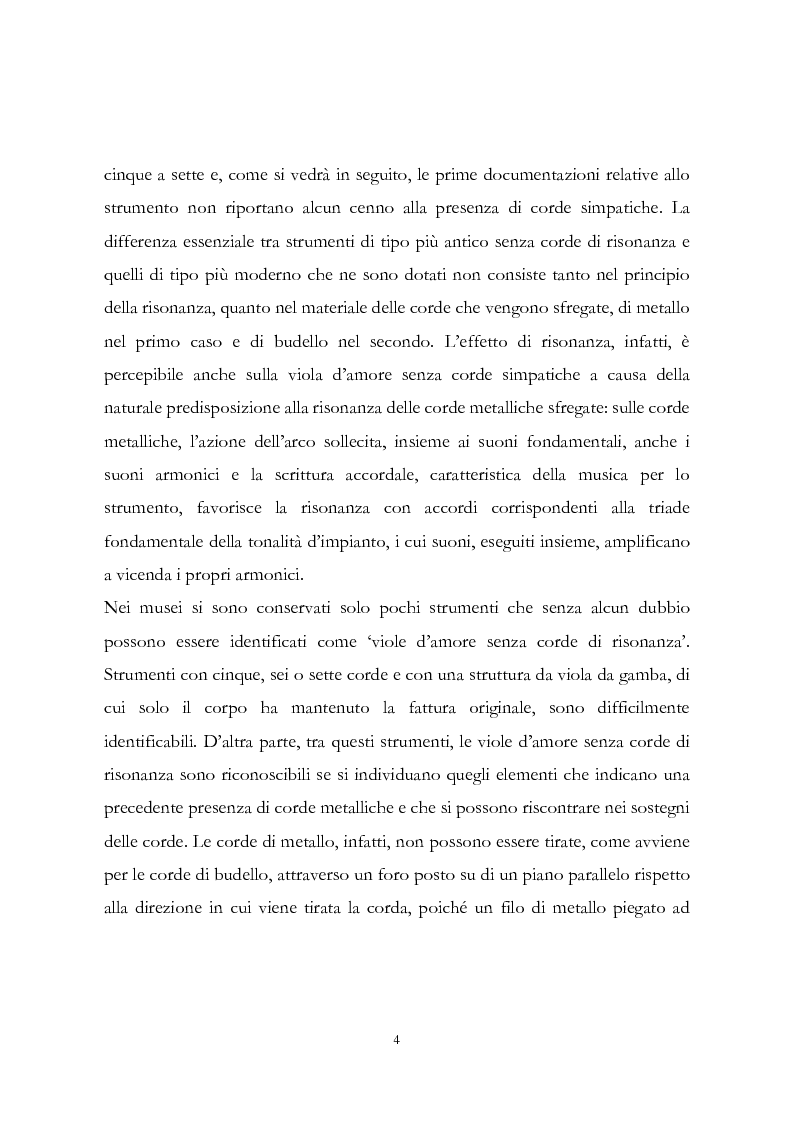 Anteprima della tesi: I musicisti italiani e la viola d'amore nella prima metà del Settecento, Pagina 4