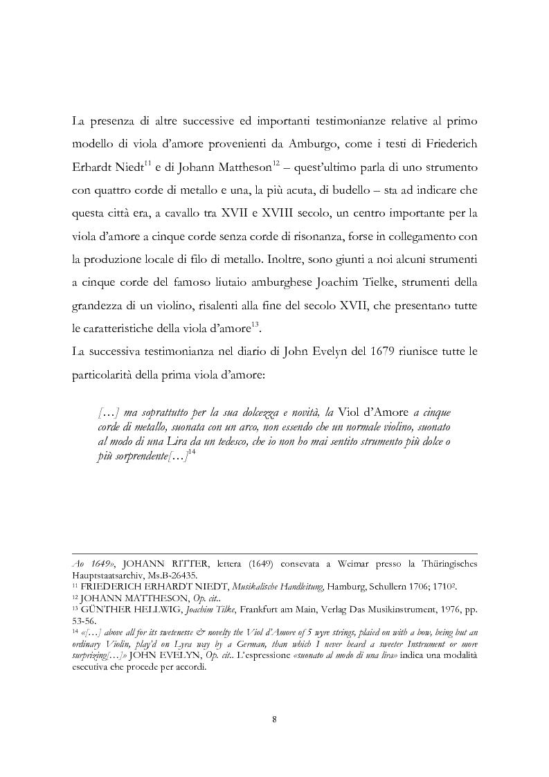 Anteprima della tesi: I musicisti italiani e la viola d'amore nella prima metà del Settecento, Pagina 8