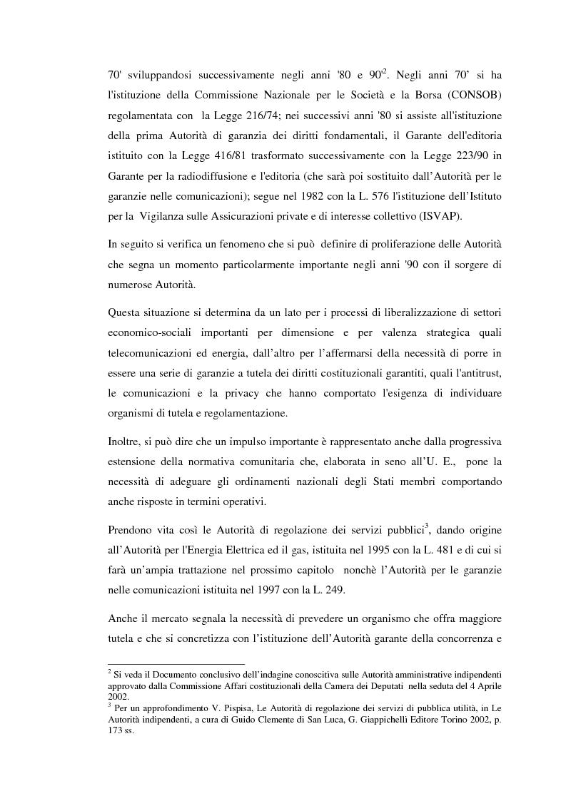 Anteprima della tesi: Le Autorità indipendenti: profili di diritto comparato, Pagina 4