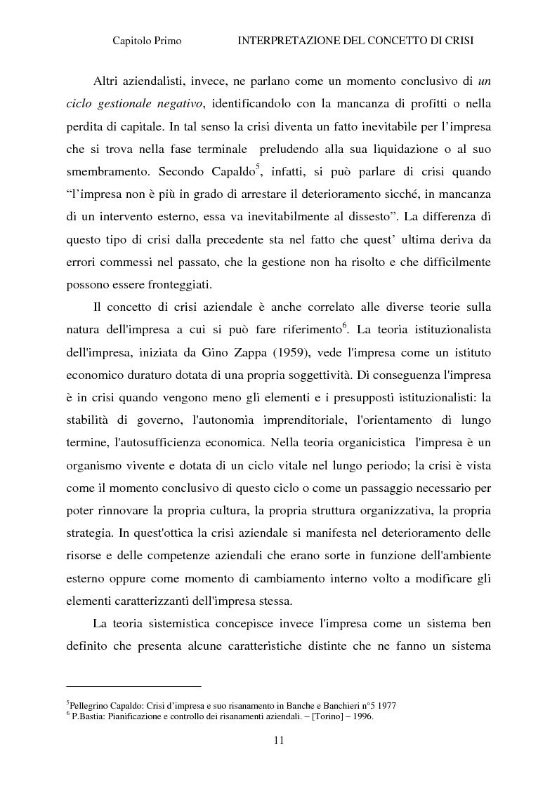 Anteprima della tesi: Crisi d'impresa e strategie di risanamento aziendale: il turnaround delle Ferrovie dello Stato, Pagina 10