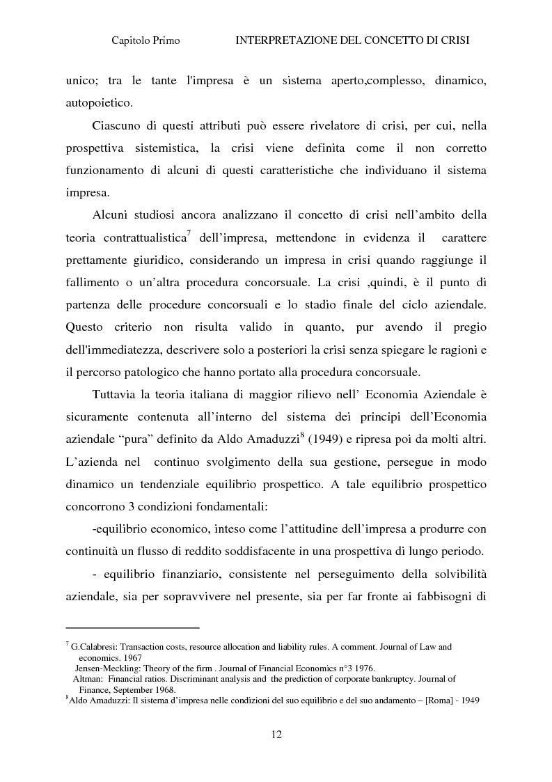 Anteprima della tesi: Crisi d'impresa e strategie di risanamento aziendale: il turnaround delle Ferrovie dello Stato, Pagina 11