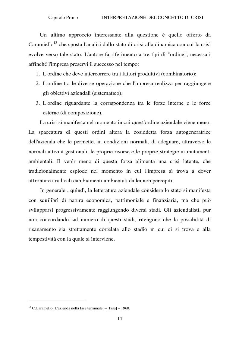 Anteprima della tesi: Crisi d'impresa e strategie di risanamento aziendale: il turnaround delle Ferrovie dello Stato, Pagina 13