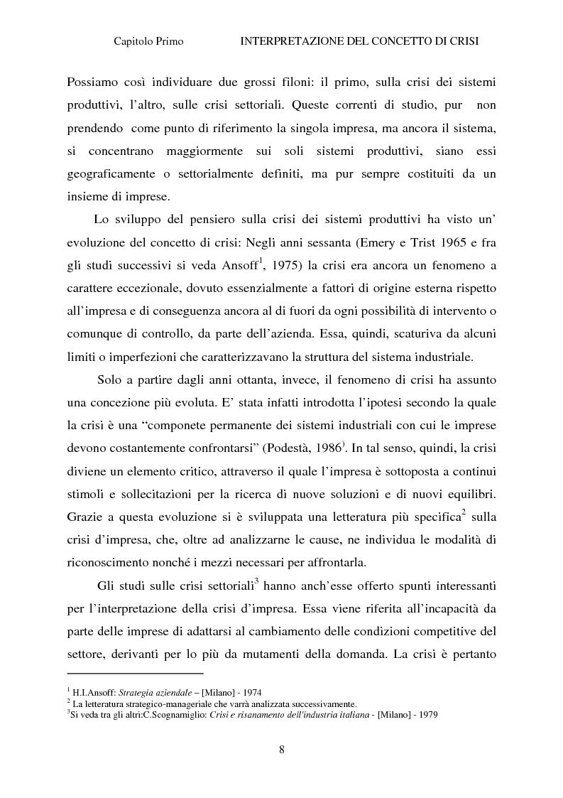 Anteprima della tesi: Crisi d'impresa e strategie di risanamento aziendale: il turnaround delle Ferrovie dello Stato, Pagina 7