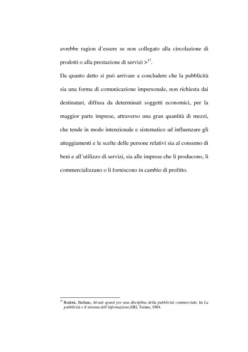 Anteprima della tesi: La pubblicità occulta, Pagina 12