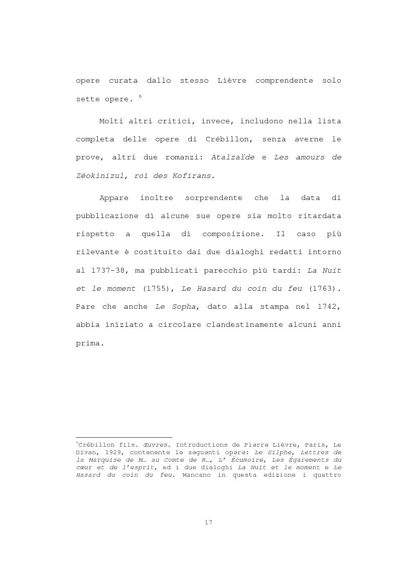 Anteprima della tesi: Strutture narrative di alcuni romanzi di Crébillon Fils, Pagina 15
