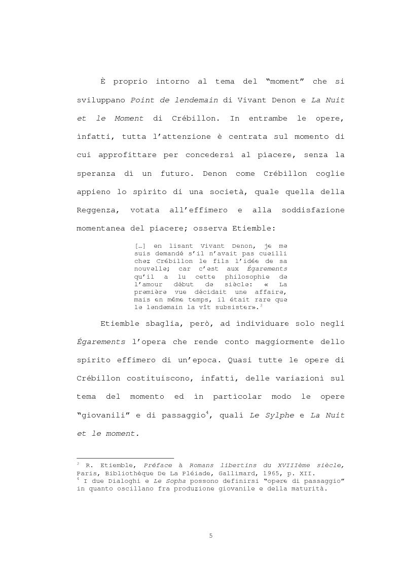 Anteprima della tesi: Strutture narrative di alcuni romanzi di Crébillon Fils, Pagina 3