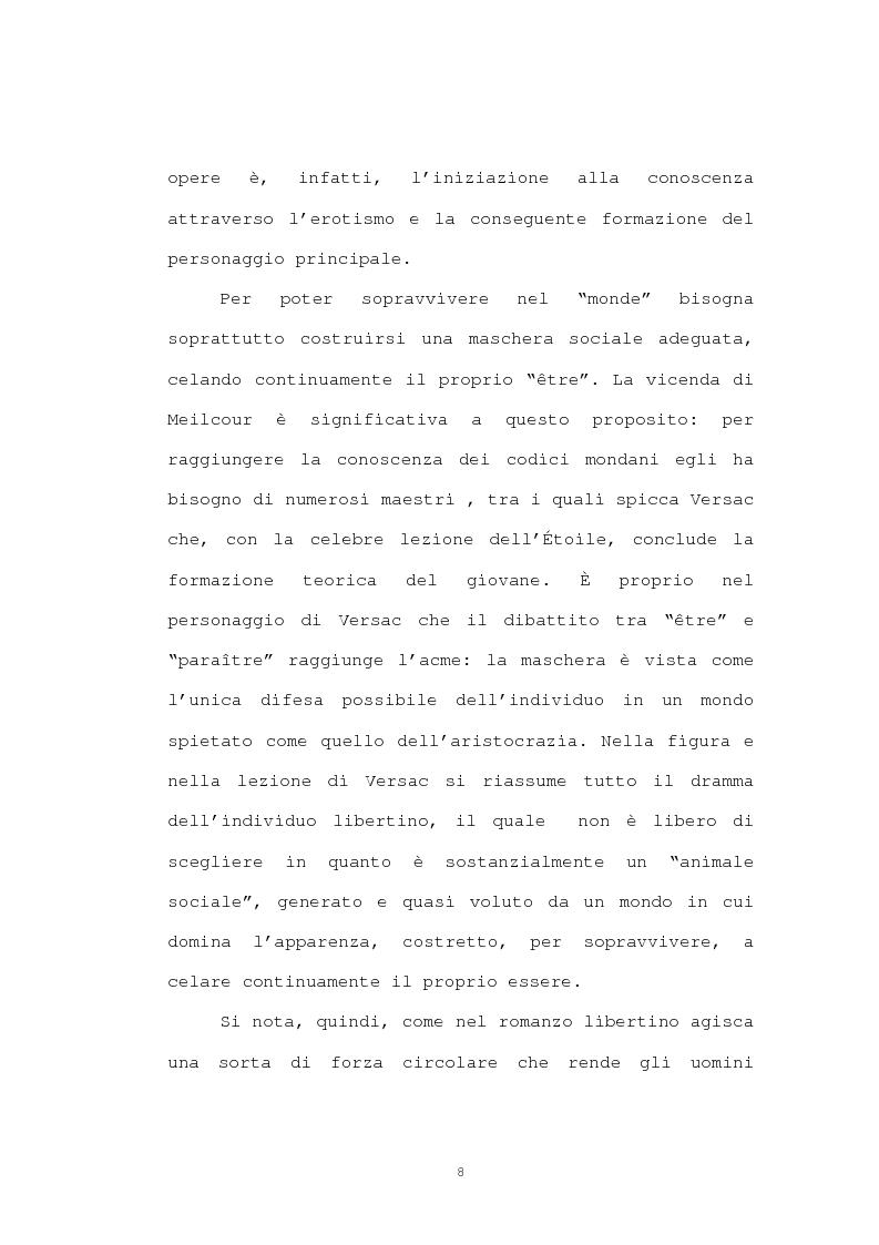 Anteprima della tesi: Strutture narrative di alcuni romanzi di Crébillon Fils, Pagina 6